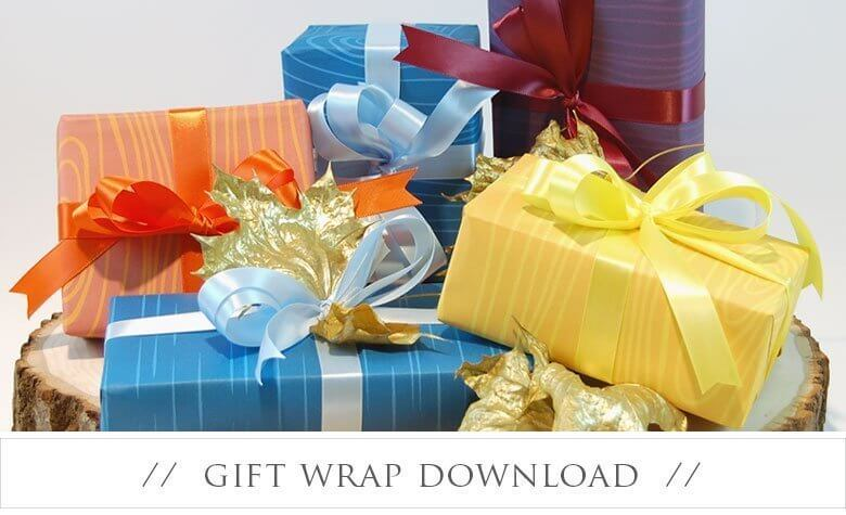 Wednesday Wrap – Free Autumn Themed Gift Wrap Download