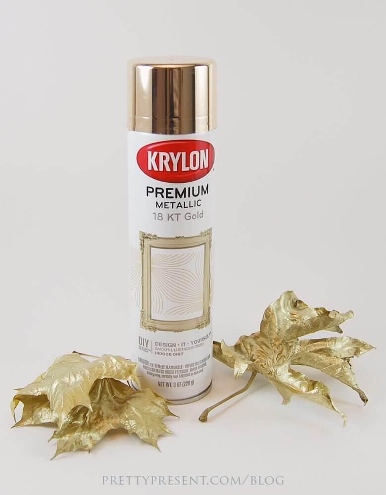 krylon-metallic-gold-spray-paint-used-for-leaves-via-pretty-present-blog