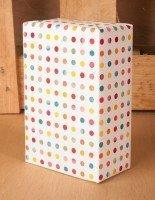 color dot gift wrap idea
