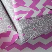 silver heart whimsical gift wrap paper