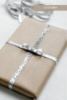 silvery metallic textured ribbon inspiration on pretty present