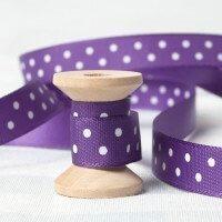 purple dotty satin Ribbon