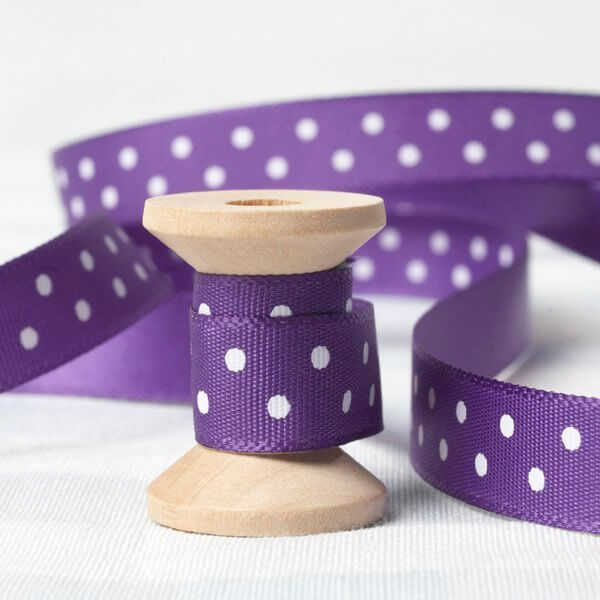 purple dotty satin Ribbon