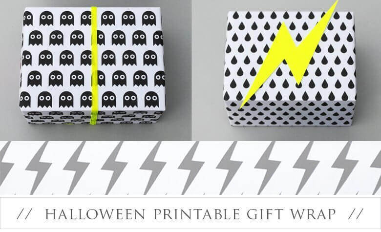 Free Halloween Printable Gift Wrap