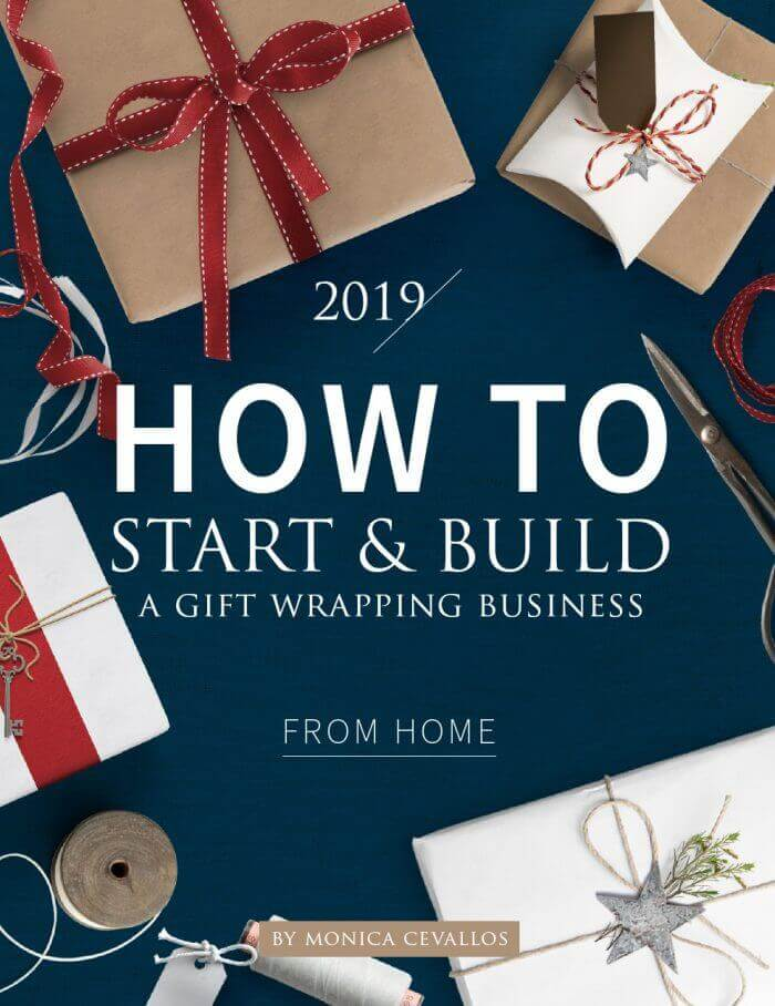 How To Start & Build A Gift Wrapping Business From Home by Monica Cevallos, owner and founder of Pretty Present™