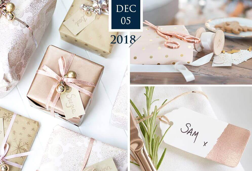 Rose Gold Holiday – Gift Wrap Ideas & Inspiration