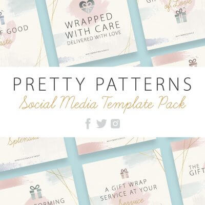 Pretty Patterns social media template pack for gift wrap professionals by Pretty Present
